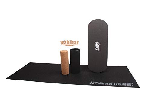 Trend-Welt Indoorboard BoarderKING Skateboard Surfboard Balanceboard - surfen im Wohnzimmer (mit Schutzmatte, 125mm Rollendurchmesser)