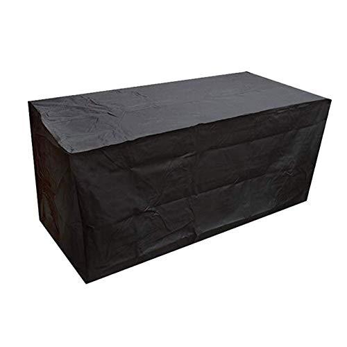 NINGWXQ Gartenmöbel-Abdeckung, wasserdicht, atmungsaktiv, Oxford-Organisation, UV-Schutz für den Außenbereich, rechteckig, Verschiedene Größen, 2 Farben, Synthetikfaser, Schwarz, 80×80×80cm