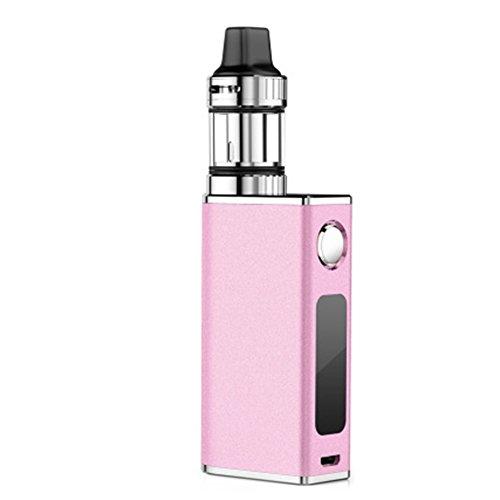 Sigaretta Elettronica, Yeleo Trosetry 50W BOX MOD 1500mAh, Atomizzatore Sub Ohm Tank 2,0ml, 0,3ohm Resistenza Batteria Integrata Senza Nicotina né Tabacco Rosa