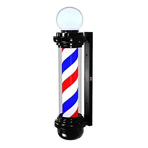 AKWEA Im Freien Wasserdicht Barber Pole Led,rot Weiß Blau Led Streifen Spinnen Friseur Salon Licht Schild Mauer Lampe,68cm/26.7in - Freien Im Pole-lampe