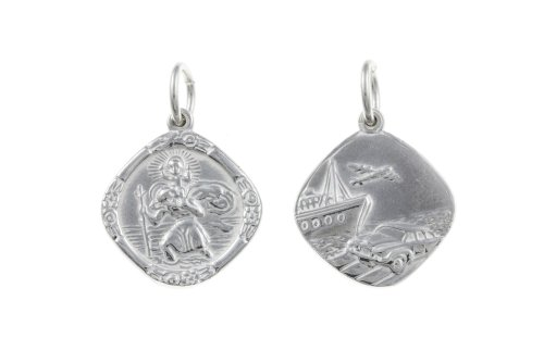 argento-sterling-925-st-san-cristoforo-medaglia-diamond-aereo-barca-auto-22-mm-x-18-mm-bu1276