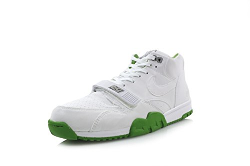 Mens Air Trainer 1 Mid Sp / Fragment Blanc / chlorophylle cuir vert Taille 8.5 WHITE/WHITE CHLOROPHYLL