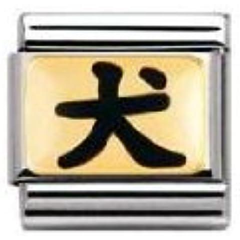 Nomination - Link da donna, acciaio inossidabile, cod. 030227 - Oro Cane Italiano Charm