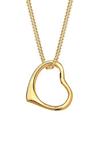Elli PREMIUM Damen-Kette mit Anhänger Herz 585 Gelbgold 45 cm - 0108821015_45