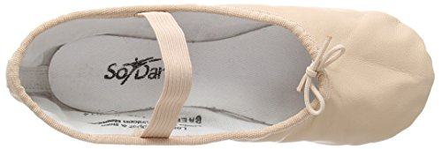 BAE90 Chaussures De Ballet En Cuir Semelle Complet Rose