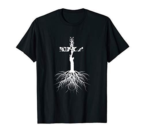 Verwurzelt in Christus Shirt Religiöses christliches Kreuz T-Shirt -