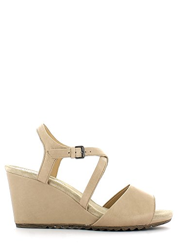 Geox D52C3B 00043 Sandalo zeppa Donna Taupe 38
