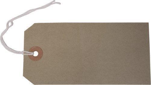Anhängeschildchen für Gepäck, 120 x 60mm, Manilla-Papier, Braun, 50Stück