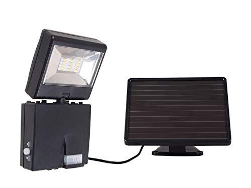 GAO Solar LED Strahler mit Bewegungsmelder, Plastik, Schwarz, 18.5 x 5.4 x 9.3 cm