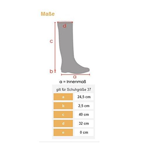 Hikenn Damen Stiefel Lack Gummistiefel Langschaft Boots