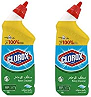 Clorox Toilet Bowl Cleaner, Fresh Scent, 2 x 709 ml