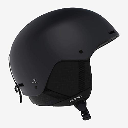 Salomon Herren Brigade Ski- und Snowboardhelm, ABS-Schale, EPS 4D-Innenschaum, Kopfumfang 56-59 cm, schwarz, Größe M, L40537200