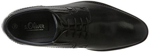 s.Oliver 13202, Richelieus Homme Noir (Black)
