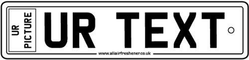 AAF Ambientador De Matrícula Para Coche Con Imagen Personalizada Y Texto