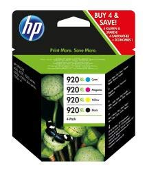 HP C2N92AE - 920XL - C2N92AE - 1 x Black,1 x Cyan,1 x Magenta,1 x Yellow - 1 x Multipack- - Ink cartridge - High Yield - For Officejet 6000, 6500, 6500 E709a, 6500A, 6500A E710a, 7000, 7500A - High-yield-combo