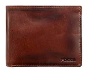 Fossil maroquinerie - ML2160200 - Carson Traveller U.S. -Porte Monnaie Homme - Cuir de Vachette Brun