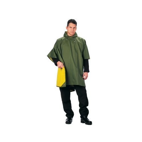 Rothco Reversible Rubberized Poncho, One Size Reversible Poncho