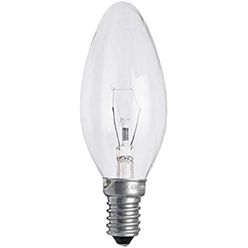 12 Pack Status 60w Ses E14 Classic Clear Candle Light Bulbs Small Screw Incandescent Dimmable