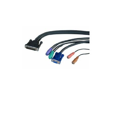 LINDY KVM Konsole Kabel für CPU Switch Multimedia, 1m - Ps/2-kvm-cpu