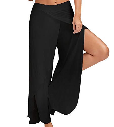 674c637202 GaiWen Donna Pantaloni Yoga Taglie Forti Locker Pantaloni Larghi High Waist  Spacco Lunga Pantaloni Tuta Estivi Casual Pantalone Larghi Palestra ...