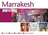 Front cover for the book Marrakesh PopOut Map by Compass Maps