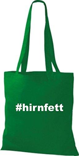 Shirtstown Stoffbeutel Hashtag # Hirnfett Kelly