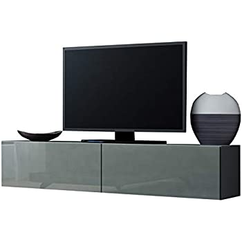 Jadella TV Board Lowboard Migo Hängeschrank Wohnwand (Grau