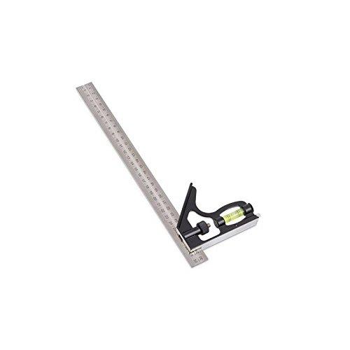 Kreator Anschlagwinkel 45° / 90° - 30cm aus gehärtetem Stahl + integrierte Libelle für präzises Messen