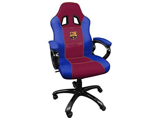 FCB FC Barcelona Silla gaming - Sillón gamer de oficina accesorio PS4,...