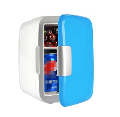 Auto-Kühlschrank, tragbarer kleiner Mini-Kühlschrank 4-Liter-Kühlschrank mit Gefrierfach Kalter und heißer Kühlschrank (Reise-kühlschrank Mit Gefrierfach)