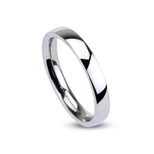 Paula & Fritz® Ring aus Edelstahl Chirurgenstahl 316L 3mm breit silber Klassis... (Paar Ringe Aus Edelstahl)