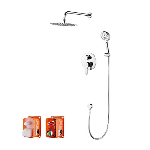 GRIFEMA G17103-PORTO, Columna de ducha empotrada(1/2 pulgada), Grifo de ducha empotrado monomando...