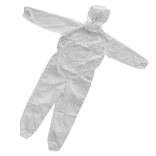 perfk Tuta Sicurezza Riflettente Gilet Con Rivestimento Con Cerniera Lampo Antistatica Abbigliamenti Tessuto