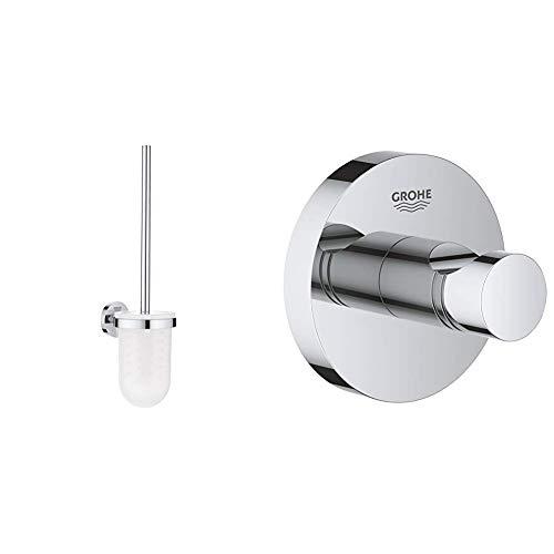 GROHE Essentials | Badaccessoires - Toilettenbürstengarnitur | 40374001 & Essentials | Badaccessoires - Bademantelhaken | chrom | 40364001 - Essentials Zubehör-set Chrom