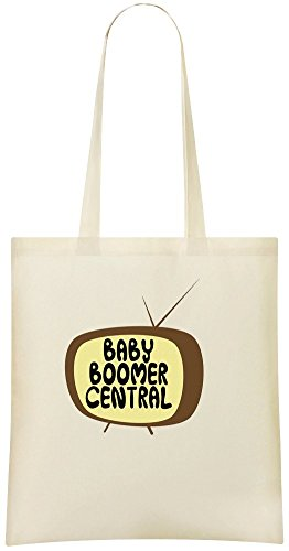 bfbcb2b1cc83 Baby Boomer Central Custom Printed Shopping Grocery Tote Bag 100% Soft  Cotton Eco-Friendly & Stylish Handbag For Everyday Use Custom Shoulder Bags