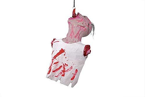 Xiao-masken Halloween Horror Hanging Ghost Weiß Gebrochener Körper Gebrochener Kopf Schädel Hand Halten Gebrochener Kopf Horror Requisiten Halloween Party Streich Prop -