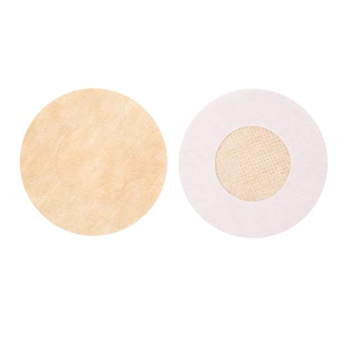 Wenwenzui 1 Pair Women Invisible Breast Pad Round Sticker Disposable Nipple Covers Skin Color -