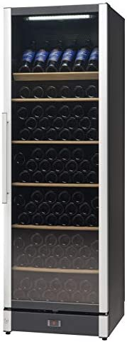 Vestfrost Beverage Cooler/Wine Cooler, 191-Bottles, Multi-Temperature Settings, Full Glass Wine Cabinet, W185B