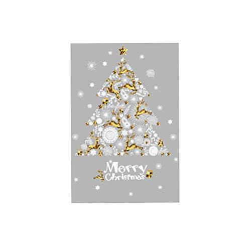 BESTOYARD Vinilos de Navidad para Ventana de árbol de Navidad Vinilos de...