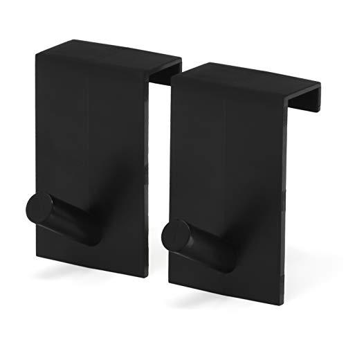 Flipchart-Papier Türhaken - platzsparende & mobile Alternative zum Flipchart Ständer (Schwarz)