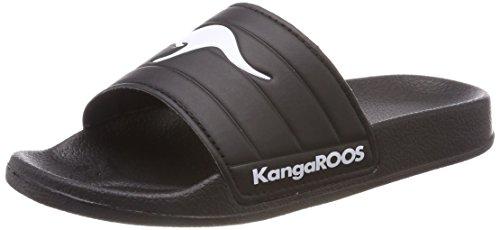 Kangaroos K-Shower, Mocasines Unisex Adulto, Negro (Jet Black/White 5012), 39 EU