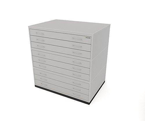 Traditionelle A19Schubladen Plan Brust grau Papier Aufbewahrung Schrank mit neun Schubladen für Papier der A1 - Brust Plan