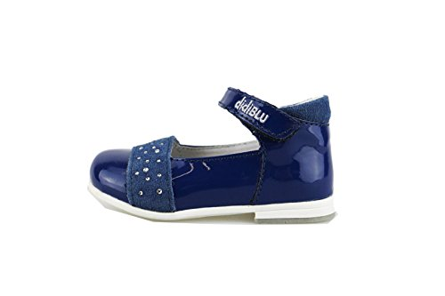 DIDI BLU ballerine bambina 20 EU blu vernice camoscio AG491