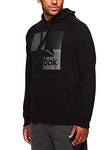 Reebok-Mens-Performance-Pullover-Hoodie-Graphic-Hooded-Activewear-Sweatshirt