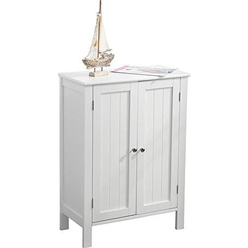 Etnicart - Armadietto bagno mobiletto bagno ingresso camera e soggiorno autoportante mobile da terra 2 sportelli in legno MDF 58x28xH80cm. Colore bianco-Prodotto di QUALITA'
