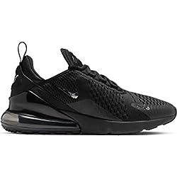 Nike Air Max 270, Chaussures d'Athlétisme Homme, Multicolore (Black/Chrome/Pure Platinum/Anthracite 1), 43 EU