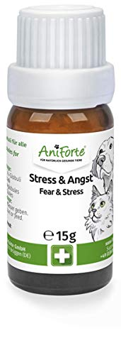 AniForte Stress & Angst Globuli für Hunde, Katzen, Haustiere - Bachblüten zur Beruhigung,...