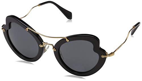 Miu Miu Damen 0MU11RS 1AB1A1 52 Sonnenbrille, Schwarz (Black/Grey),