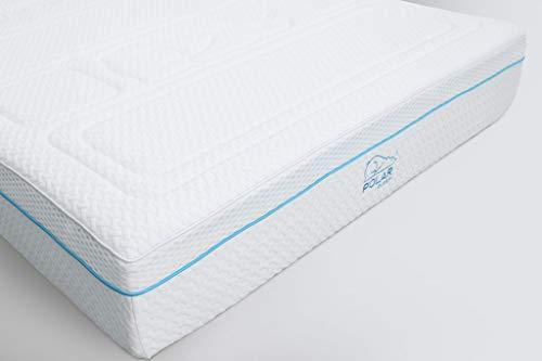 Polar Hybrid Matratze - Cool Gel Memory Foam & 2000 Taschenfedern, mittlere Feste Matratze, I 100 Schlaf Test I 10 Jahre Garantie I I I I, Textil, weiß, UK Single - 90x190x26cm