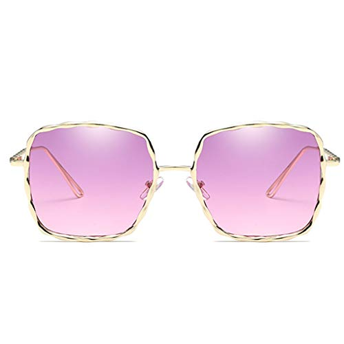Luckiests Frauen Men Square Shades Sonnenbrille Ozean Objektiv Welle Bein Sonnenbrillen Unisex Driving Fischen-Sport-UV-Schutz Brillen